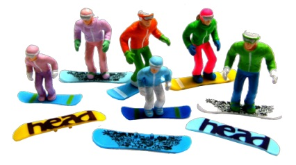 STANDING SNOWBOARDS - 6 PIECES Image